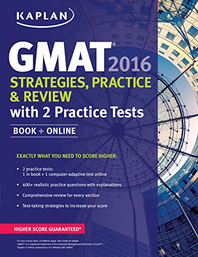 9781625231369: Kaplan GMAT 2016 Strategies, Practice, and Review with 2 Practice Tests: Book + Online (Kaplan Test Prep)