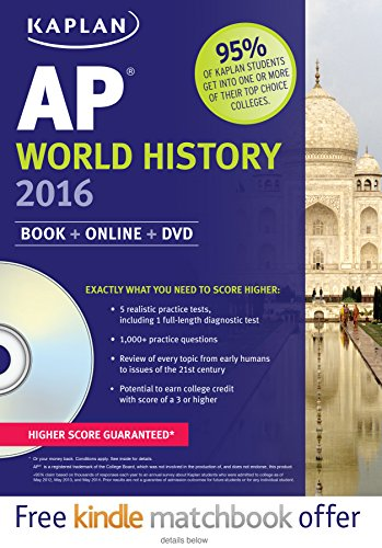 9781625231420: Kaplan AP World History 2016: Book + DVD (Kaplan Test Prep)