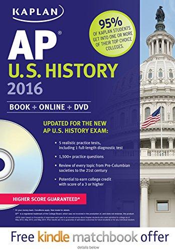 9781625231444: Kaplan AP U.S. History 2016: Book + DVD (Kaplan Test Prep)