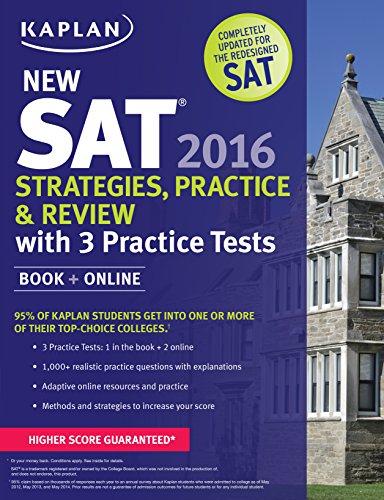 9781625231543: Kaplan New SAT 2016 Strategies, Practice and Review with 3 Practice Tests: Book + Online (Kaplan Test Prep)