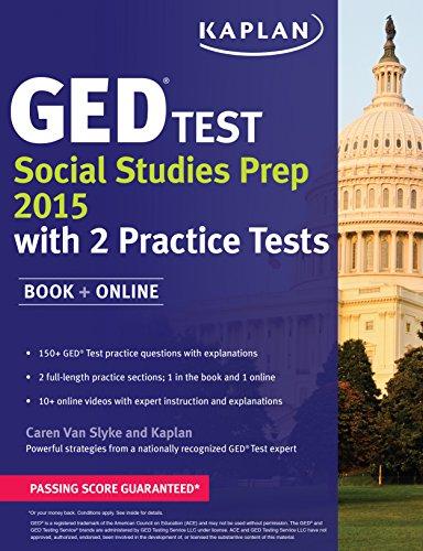 Kaplan GED Test Social Studies Prep 2015: Book + Online (Kaplan Test Prep): Caren Van Slyke