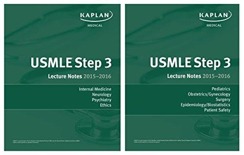 9781625232717: Kaplan USMLE Step 3 Lecture Notes 2015- 2016 Set (2 books) Authentic, USA Print