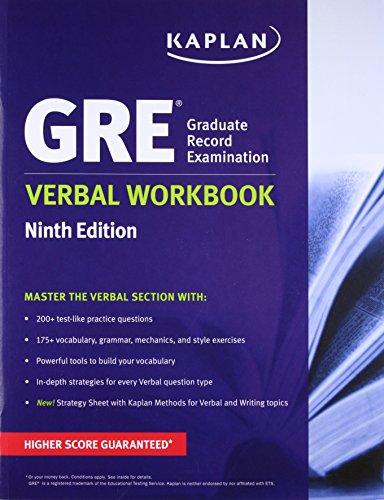 9781625232984: GRE Verbal Workbook (Kaplan Test Prep)