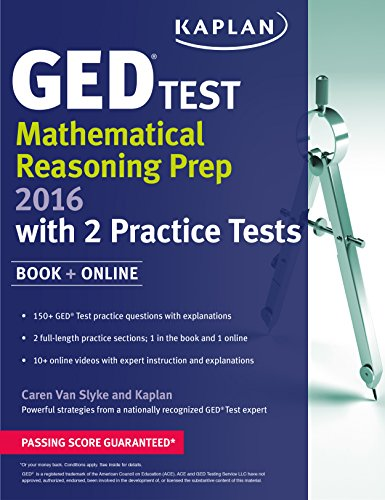 9781625233035: Kaplan GED® Test Mathematical Reasoning Prep 2016: Book + Online (Kaplan Test Prep)