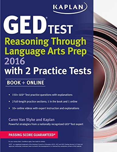 9781625233042: Kaplan GED® Test Reasoning Through Language Arts Prep 2016: Book + Online (Kaplan Test Prep)