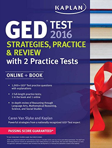 9781625233066: Kaplan GED Test 2016 Strategies, Practice, and Review: Online + Book (Kaplan Test Prep)