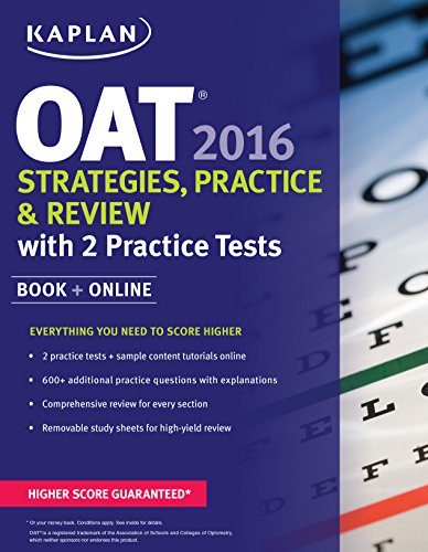 9781625233073: Kaplan OAT 2016 Strategies, Practice, and Review with 2 Practice Tests: Book + Online (Kaplan Test Prep)