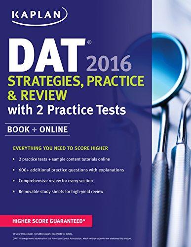 9781625233080: Kaplan DAT 2016 Strategies, Practice, and Review with 2 Practice Tests: Book + Online (Kaplan Test Prep)