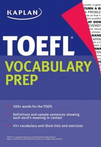 9781625233400: Kaplan TOEFL Vocabulary Prep