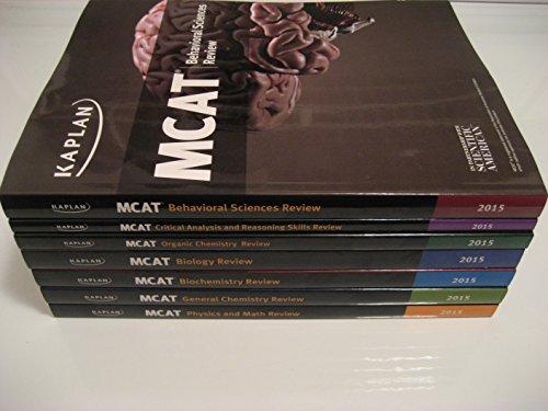 9781625235510: Kaplan 2015 MCAT 7 Book Subject Review Set