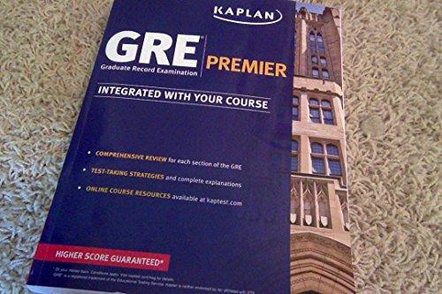 9781625237217: Kaplan GRE Premier