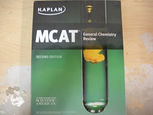 9781625238788: Kaplan MCAT General Chemistry Review 2nd Edition