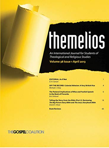 9781625649607: Themelios, Volume 38, Issue 1