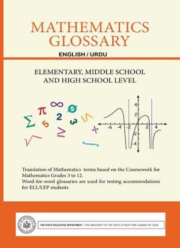 9781626320123: Mathematics Glossary - English/Urdu - Elementary, Middle School and High School Level