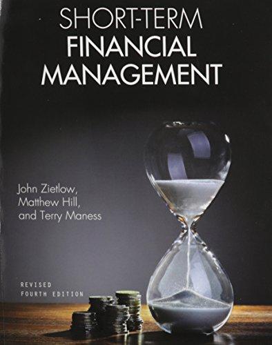 Short-Term Financial Management: Maness, Terry, Hill,