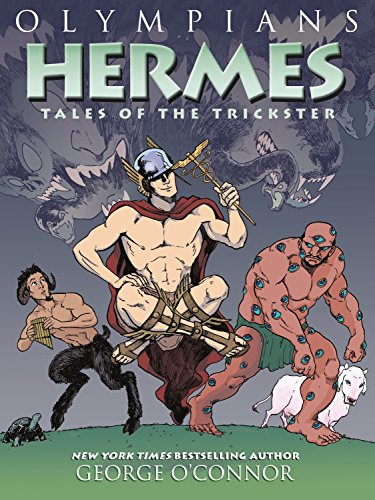 Olympians: Hermes: Tales of the Trickster 9781626725256 The New York Times bestselling series continues as author/artist George O'Connor focuses on Hermes, the trickster god in Olympians: Hermes: Tales of the Trickster. In volume ten of Olympians, George O'Connor delves into the myth of Hermes, the trickster god. From his infancy, when he bewitches animals and bends them to his will (stealing a herd of Apollo's prize cattle in the bargain), to his adolescence and adulthood when he becomes father to the equally mischievous Pan, Hermes's story is wildly entertaining as he brings a little bit of chaos to everything he touches or creates. This volume is sure to be a fan favorite with its wit, charm, and storytelling.