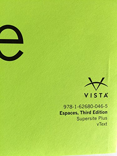 9781626800465: Espaces 3rd Ed, Supersite and vText CODE - CODE ONLY