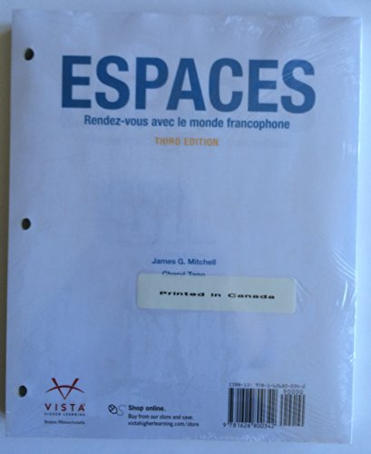 Espaces, 3rd Edition, Loose Leaf Student Edition with Supersite Code