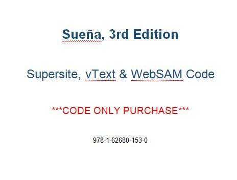 9781626801530: Suena, 3rd Edition, Supersite, vText & WebSAM Code - CODE ONLY