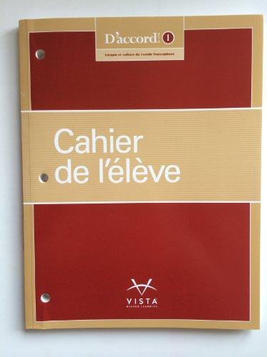 D'accord (C)2015 Level 1 Cahier de l'eleve (workbook) [Paperback]