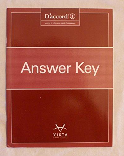 9781626802049: D'accord! Langue et Culture du Monde Francophone Answer Key