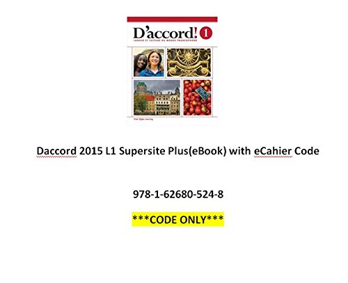 9781626805248: D'accord 2015 L1 Supersite, eBook and eCahier Code [Code Only]