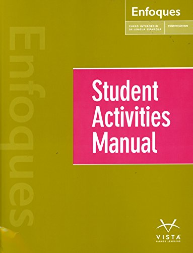 9781626806924: ENFOQUES-STUDENT ACTIVITY MANUAL