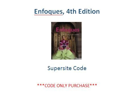 9781626806948: Enfoques 4th Ed Supersite Code ***CODE ONLY***