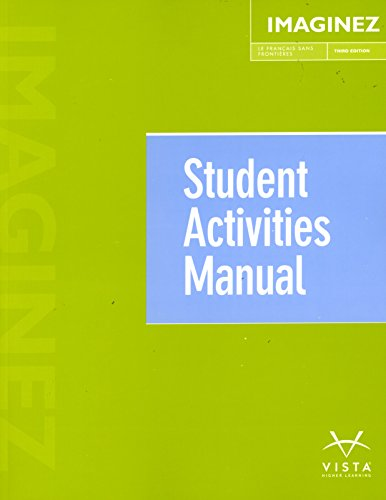 9781626808164: Imaginez, 3rd Ed, Student Activities Manual