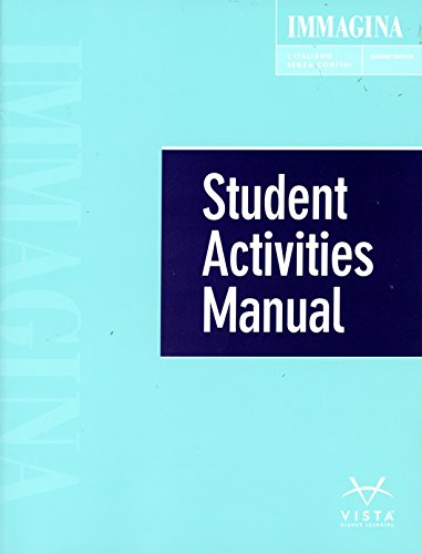 9781626808676: Immagina, 2nd Ed, Student Activities Manual