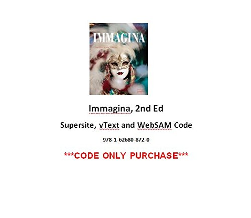 9781626808720: Immagina 2nd Supersite, vText and WebSAM Code ***CODE ONLY***