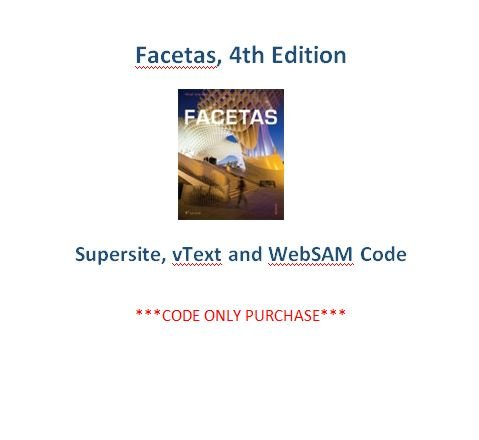 9781626809680: Facetas 4th Ed Supersite, vText and WebSAM Code ***CODE ONLY***