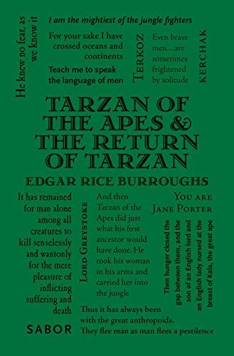 9781626864702: Tarzan of the Apes & The Return of Tarzan (Word Cloud Classics)