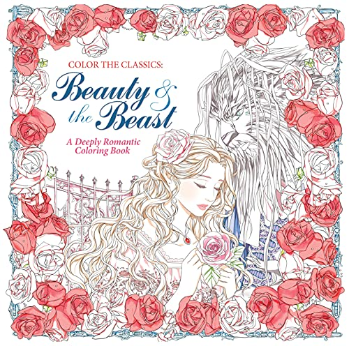 9781626923935: Beauty and the Beast Adult Coloring Book: A Deeply Romantic Coloring Book