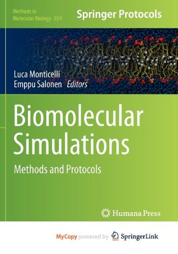 9781627030182: Biomolecular Simulations: Methods and Protocols
