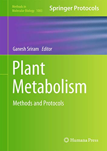 9781627036603: Plant Metabolism: Methods and Protocols (Methods in Molecular Biology)