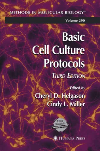 9781627039307: Basic Cell Culture Protocols (Methods in Molecular Biology)
