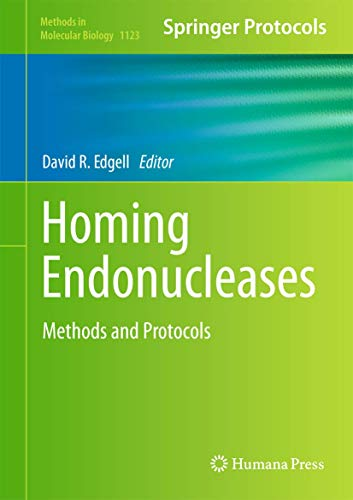 9781627039673: Homing Endonucleases: Methods and Protocols (Methods in Molecular Biology)