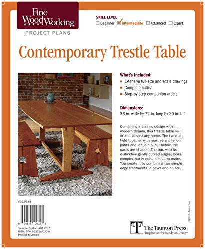 9781627100328: Fine Woodworking's Contemporary Trestle Table Plan