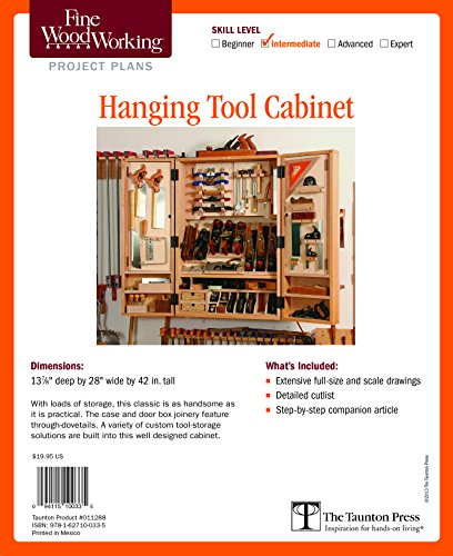9781627100335: Fine Woodworking's Hanging Tool Cabinet Plan (Fine Woodworking Project Plans)