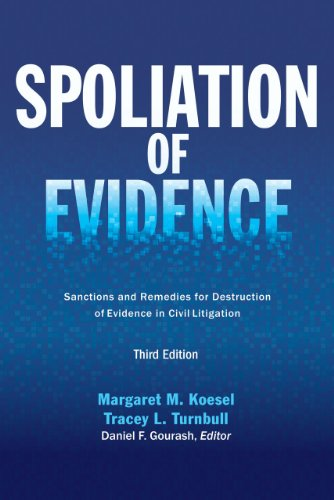 9781627222266: Spoliation of Evidence: Sanctions and Remedies for Destruction of Evidence in Civil Litigation