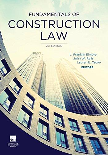 9781627223003: Fundamentals of Construction Law