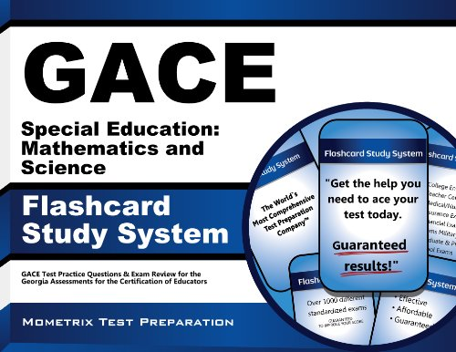 9781627337298: GACE Special Education: Mathematics and Science Flashcard Study System: GACE Test Practice Questions & Exam Review for the Georgia Assessments for the Certification of Educators (Cards)