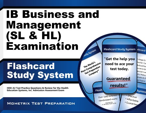 9781627337458: Ib Business and Management (SL and Hl) Examination Flashcard Study System: Ib Test Practice Questions and Review for the International Baccalaureate D