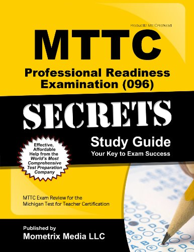 9781627337984: MTTC Professional Readiness Examination (096) Secrets Study Guide: MTTC Exam Review for the Michigan Test for Teacher Certification (Secrets (Mometrix))
