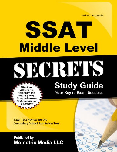 9781627339292: SSAT Middle Level Secrets Study Guide: SSAT Test Review for the Secondary School Admission Test (Secrets (Mometrix))