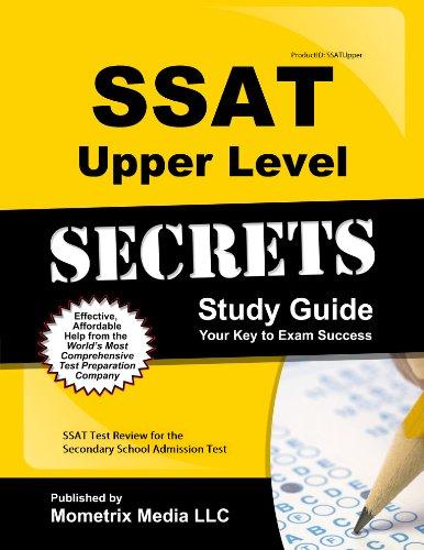 9781627339315: Ssat Upper Level Secrets: Ssat Test Review for the Secondary School Admission Test