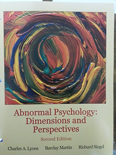 9781627514392: Abnormal Psychology: Dimensions and Perspectives