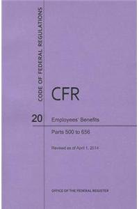 9781627732956: Code of Federal Regulations Title 20, Employees' Benefits, Parts 500-656, 2014
