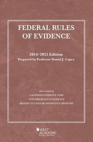 9781628101256: Federal Rules of Evidence, 2014-2015 (Selected Statutes)